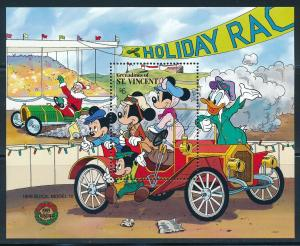 Disney St-Vincent Grenadines Souvenir Sheet Holiday MNH #684 (1989)