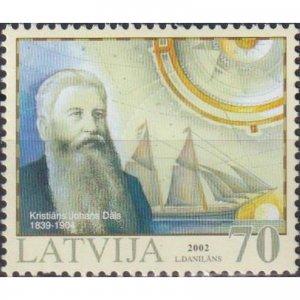 Latvia 2002 History of Latvian Navigation  (MNH)  - Ships, Travelers