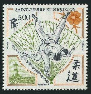 St Pierre & Miquelon 513,MNH.Michel 570. Judo Competitions,1989.