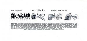 SHOWGARD BLACK MOUNTS 264/111 (10) RETAIL PRICE $21.50