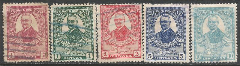 DOMINICAN REPUBLIC 249-53 O009-1