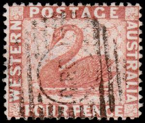 Western Australia Scott 61, Perf. 14 (1888) Used F-VF, CV  $37.50 M