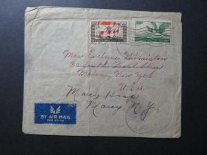 Lebanon 1947 Airmail Cover to USA / Light Creasing - Z10691