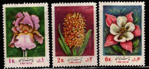 IRAN Scott 1711-1713 MNH** 1973 Flower set