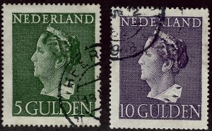 Netherlands #280-281 Used F-VF Value $42.00...Bid to Win!!
