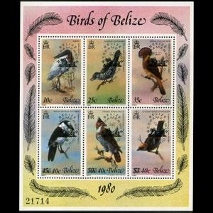 BELIZE 1980 - Scott# 502 S/S Birds NH