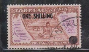 TOKELAU Scott # 5 Used - Overprinted With New Value