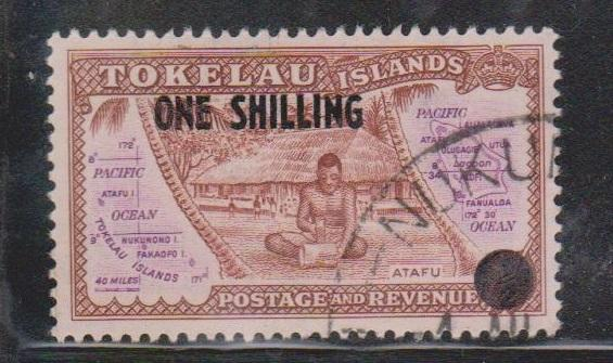 TOKELAU Scott # 5 Used - Overprinted With New Value