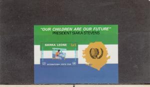 SIERRA LEONE 679 SOUVENIR SHEET MNH 2019 SCOTT CATALOGUE VALUE $4.25