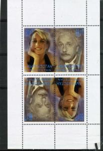 Kyrgyzstan 2000 PRINCESS DIANA & ALBERT EINSTEIN s/s Perforated Inverted MInt NH