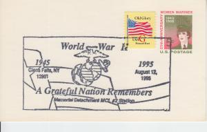 1995 50th Anniv End of World War II UX56 PC Glens Falls NY
