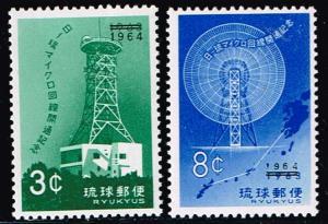 Ryuku Islands # 122 - 123  MNH