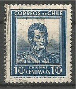 CHILE, 1932  used 10c,O'Higgins Scott 182
