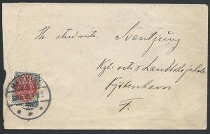 DENMARK 1898 8ore on cover, HERNING cds....................................49275