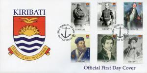 Kiribati 2009 FDC Seafaring & Exploration Shackleton Marco Polo 6v Cover Stamps