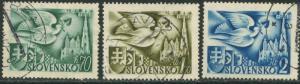 SLOVAKIA Sc#74-76 1942 Postal Conference Complete Set Used