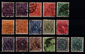 Germany 1921 Weimar Rep. Posthorn Definitive Part Set [Used]