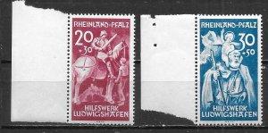 Germany (Rhine-Palatinate) 6NB1-2 Saints set MNH