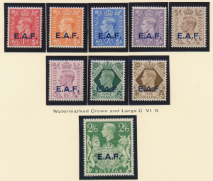Great Britain, East Africa Forces, Somalia Stamps Scott #1 To 9, Mint Hinged ...