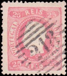 Portugal #28, Incomplete Set, 1867-1870, Used