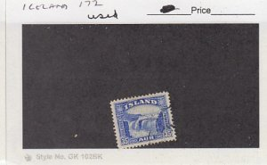 J25793  jlstamps 1931-2 iceland used #172 waterfalls