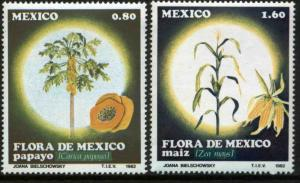 MEXICO 1288-1289 Mexican Flora MINT, NH. VF.