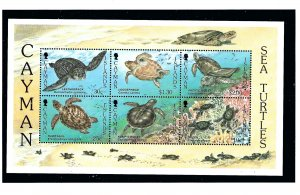 Cayman Is 698a MNH 1995 Sea Turtles S/S