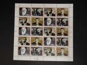 SC #3061-3064 32c Pioneers of Communication Full Sheet MNH