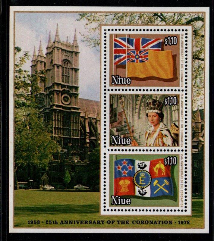 Niue Sc 221d 1978 25th Anniv Coronation QE II sheet mint NH