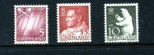 Greenland 49,56,65 Mint LH