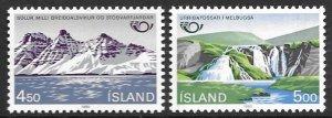 Iceland 571-72   1983  set  2  VF NH