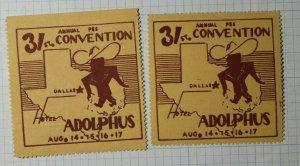 PSS Convention Hotel Adolphus Dallas TX Philatelic Souvenir Ad Label