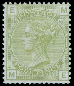 SG153, 4d sage-green plate 16, M MINT. Cat £1400. ME