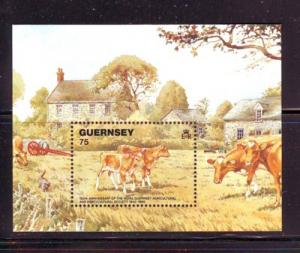 Guernsey Sc 475 1992 Cows stamp sheet mint NH