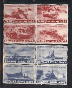 Great Britain Mint Royal Navy Patriotic Stamp Blocks