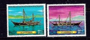 Malagasy 788-89 MNH 1987 Boats