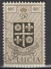 St. Lucia - 1949 Arms of the Colony 48c  (225)