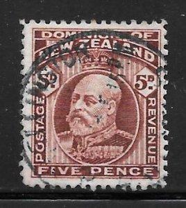 New Zealand 136: 5d Edward VII, used, F-VF