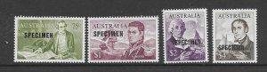 Australia 376-79  1965  set 4   OP specimen   VF NH