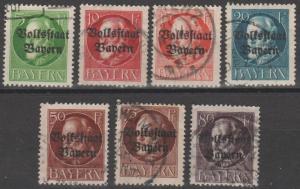 Bavaria #137, 139-41, 146,  148-9  F-VF  CV $14.00 (B14003)