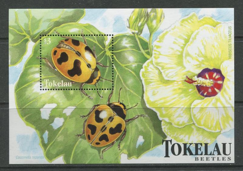Tokelau - Scott 259 - Beetles -1998 - MNH - Souvenir Sheet with 1 Stamp