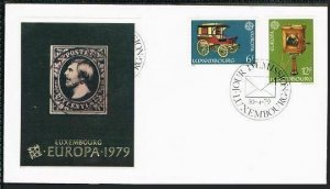 Luxembourg 624-625,FDC.Michel 987-988. EUROPE CEPT-1979,Stagecoach,Telephone.