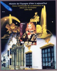 Guinea 1998 Mi#B526 Halley's Comet/Velazquez Souvenir Sheet IMPERFORATED MNH
