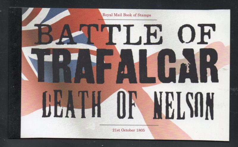 Great Britain SC BK178 2005 Trafalgar Nelson stamp booklet mint NH