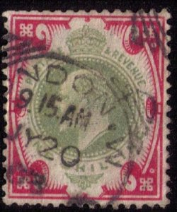 GB UK Scott #138 Used KEVII VF/XFCat. $40.00