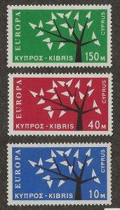 Cyprus 219-221 Set MNH