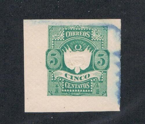Peru Cut Square From 1875 Used  (P0051)
