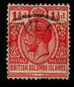 BRITISH SOLOMON IS. SG42 1924 1½d BRIGHT SCARLET FINE USED