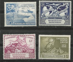 Bechuanaland # 149-52  U.P.U.Anniversary 1949  (4) Unused VLH
