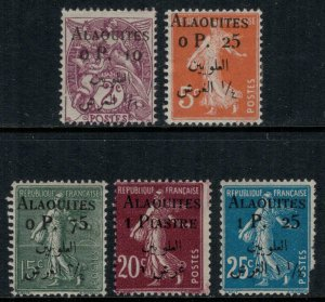 Alaouites #1-4*  CV $19.25  (#5 minor defects included free)